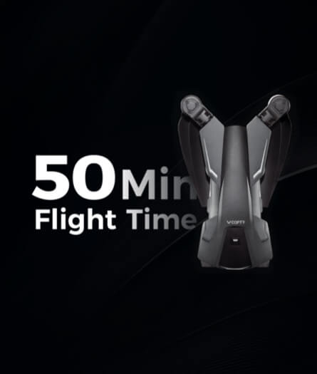 50-minute flight time